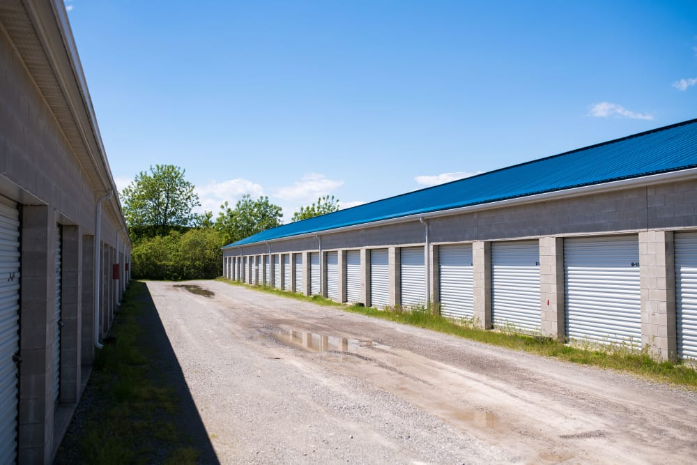 Ample driveway space at Apple Self Storage - St. Catharines in St. Catharines, Ontario