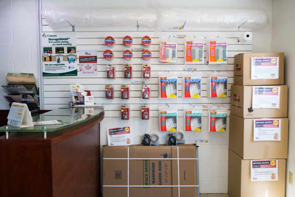 Packing and moving supplies at Apple Self Storage - St. Catharines in St. Catharines, Ontario