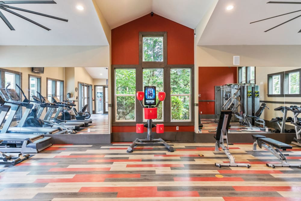 The community fitness center, newly renovated