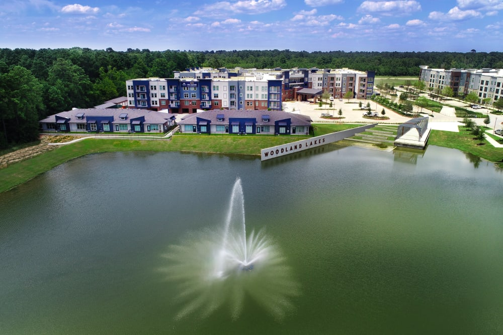 A rendering of the property at Watermere at Woodland Lakes in Conroe, Texas