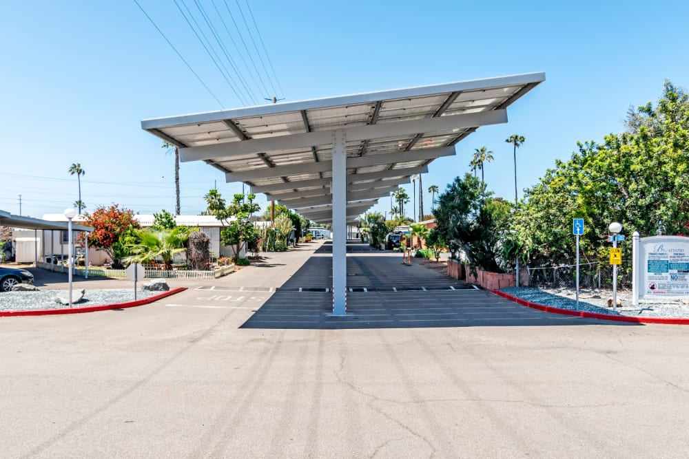 Covered parking area at Brentwood in Chula Vista, California