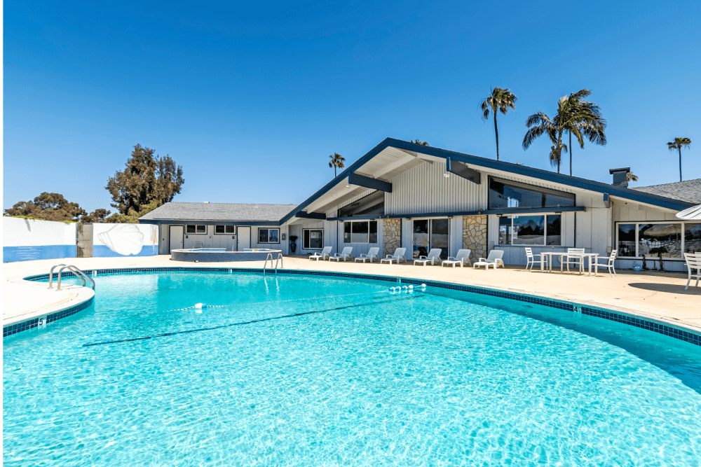 Resort-style swimming pool at Brentwood in Chula Vista, California