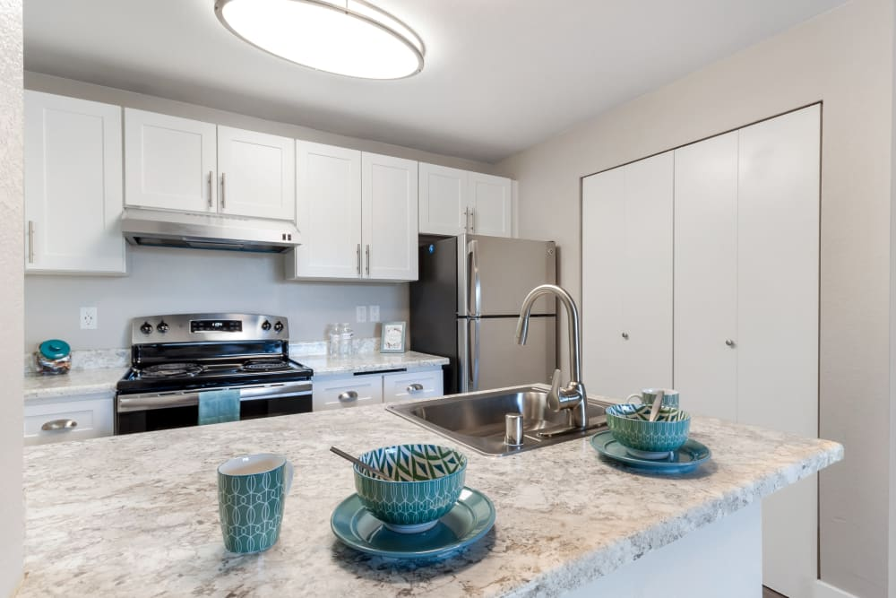 Our Apartments in Puyallup, Washington offer a Kitchen
