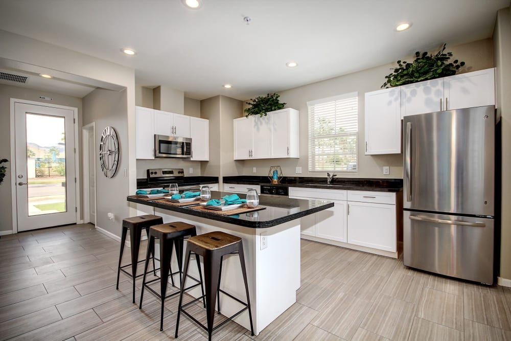 Spacious kitchen with a breakfast bar at BB Living at Eastmark in Mesa, Arizona