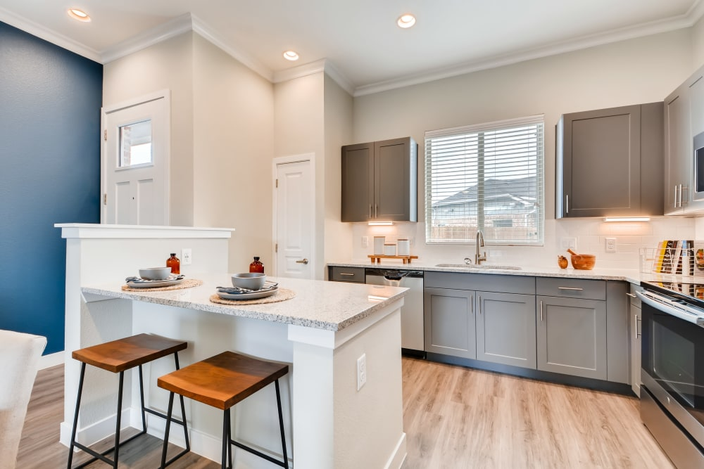 Kitchen at Apartments in Grand Prairie, Texas
