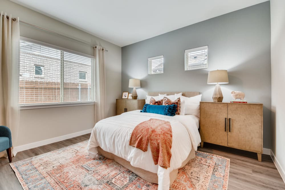 Bedroom at Apartments in Grand Prairie, Texas