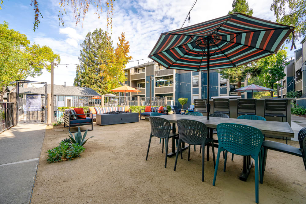 Outdoor tables available at Terra Martinez in Martinez, California