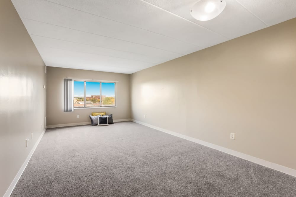 Large bedroom at Concord Towers Apartments in Madison Heights, Michigan