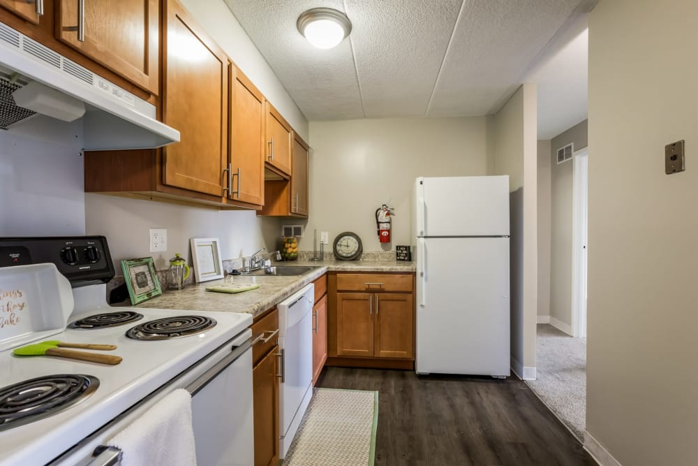 Nice appliances Concord Towers Apartments in Madison Heights, Michigan
