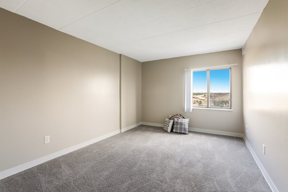 Naturally lit bedrooms at Concord Towers Apartments in Madison Heights, Michigan