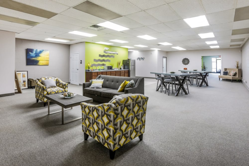 Community space at Concord Towers Apartments in Madison Heights, Michigan