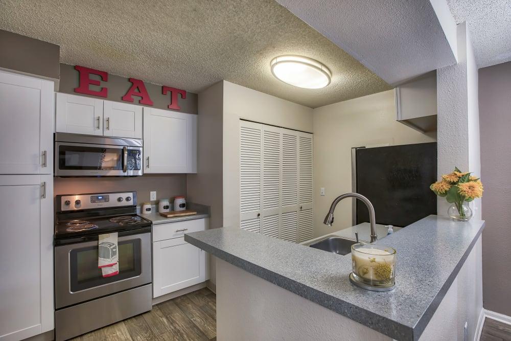 Kitchen at Keystone Apartments in Northglenn, Colorado