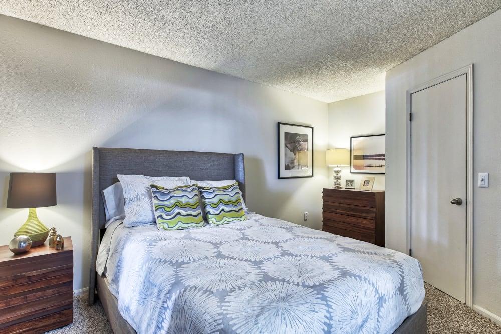 Bedroom at Keystone Apartments in Northglenn, Colorado