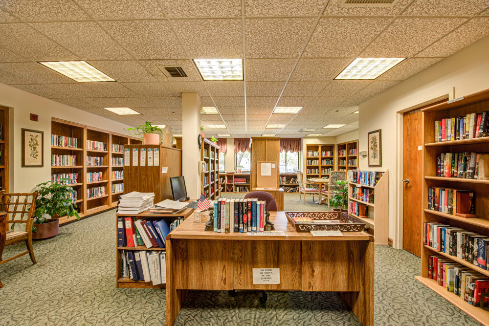 Community library at Westmont Village in California