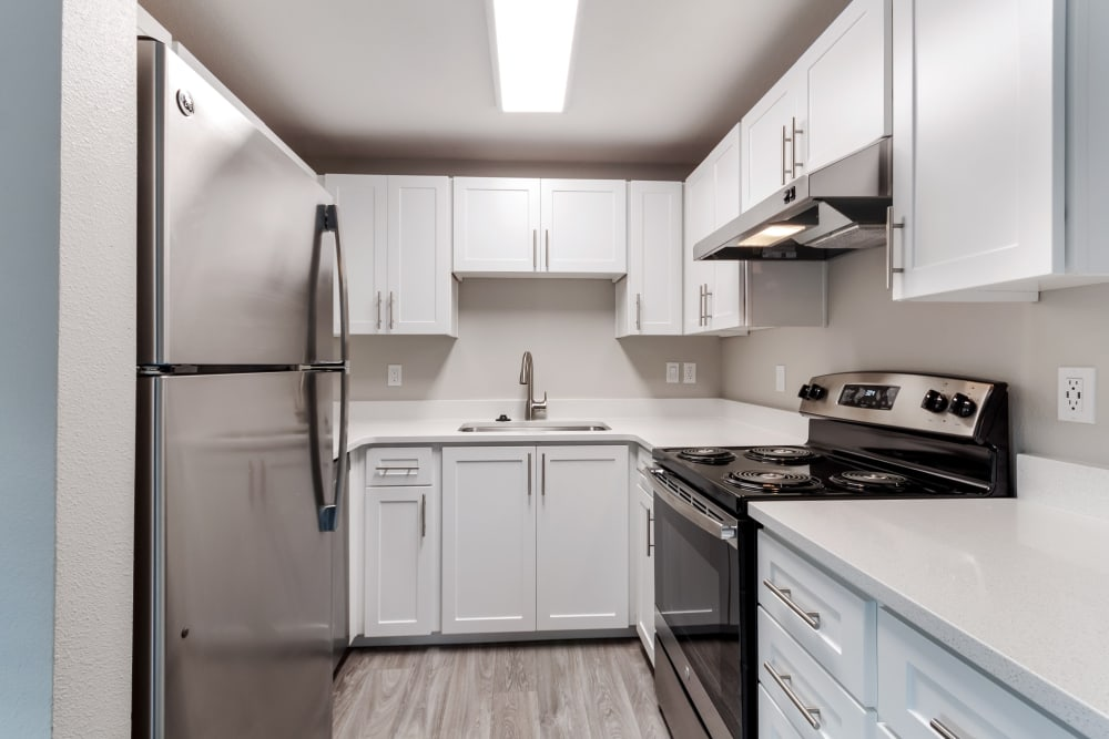Kitchen at Madison Park Apartments in Vancouver, Washington
