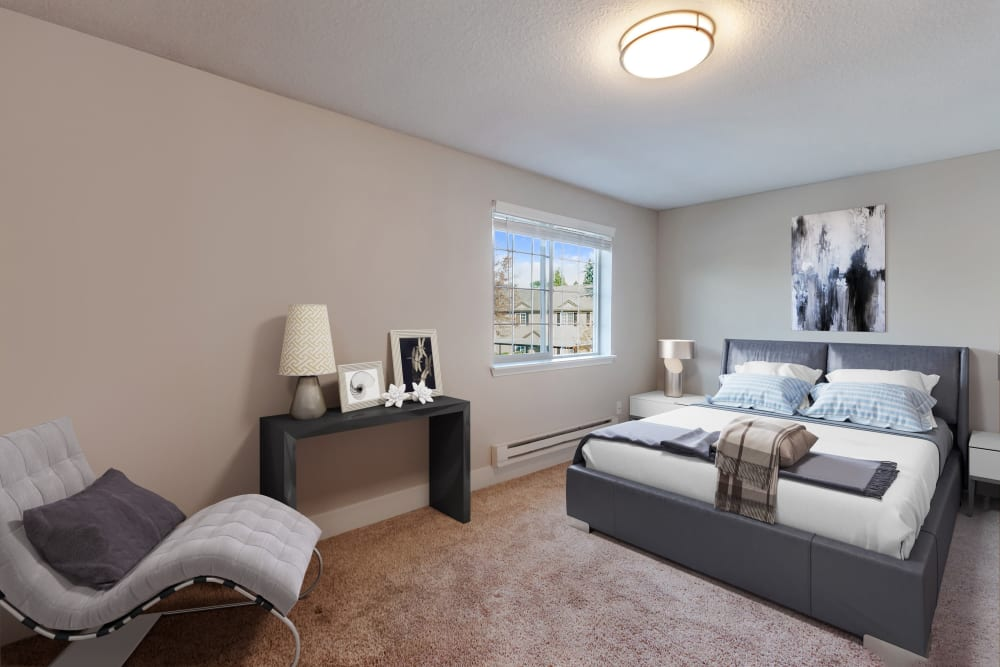 Bedroom at Madison Park Apartments in Vancouver, Washington