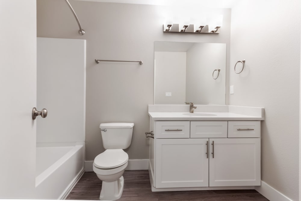 Bathroom at Madison Park Apartments in Vancouver, Washington