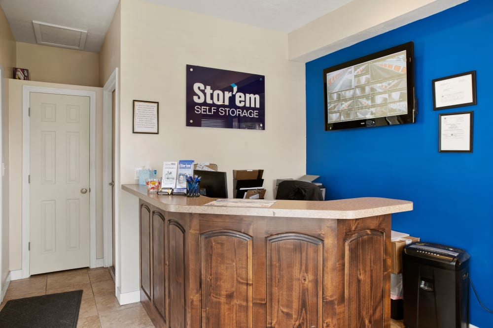 Office at Stor'em Self Storage in Sandy, Utah