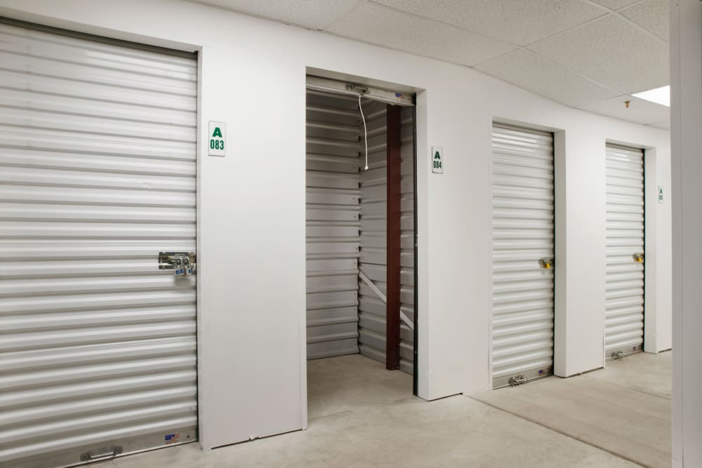 Interior storage units at Stor'em Self Storage in Sandy, Utah