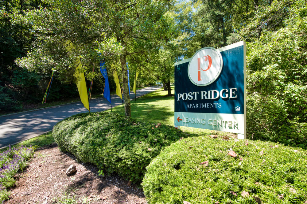 Entry Sign at Post Ridge Apartments in Nashville, Tennessee