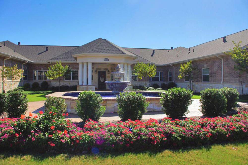 Fountain at Oak Ridge Alzheimer's Special Care Center in Haltom City, Texas
