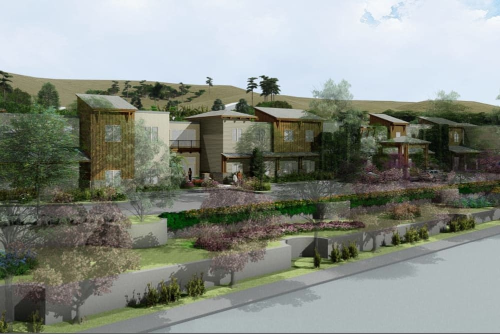A rendering of the exterior of The Oaks at Paso Robles in Paso Robles, California