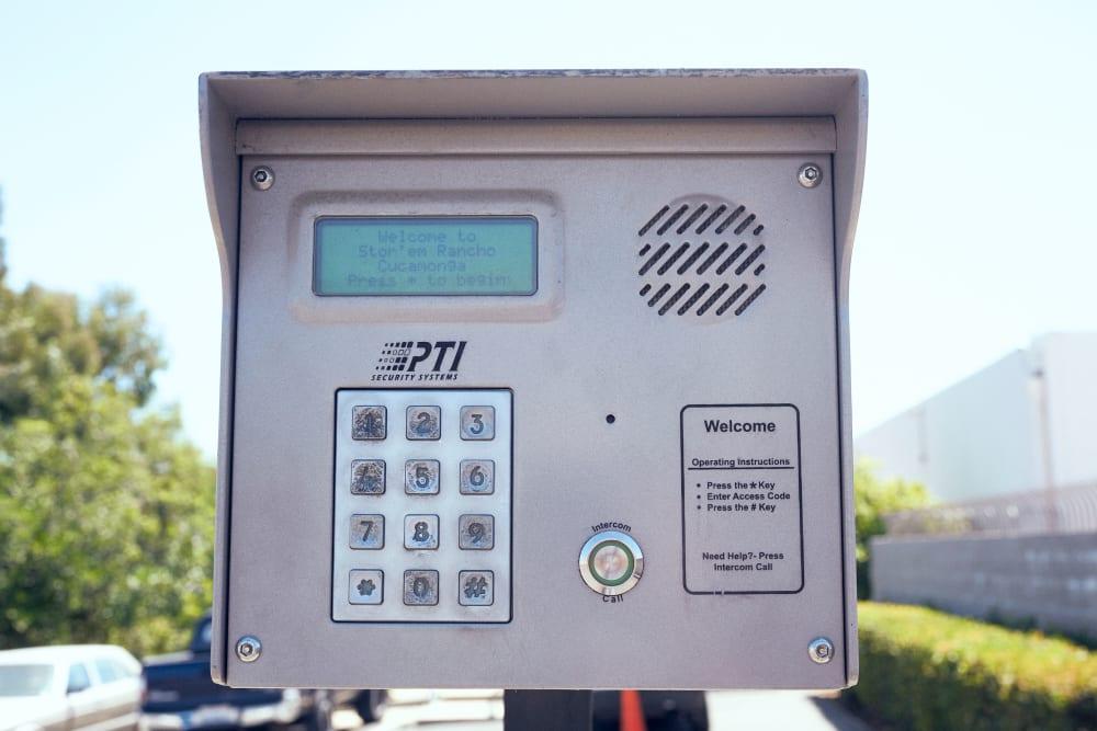 Keypad access at Stor'em Self Storage in Rancho Cucamonga, California