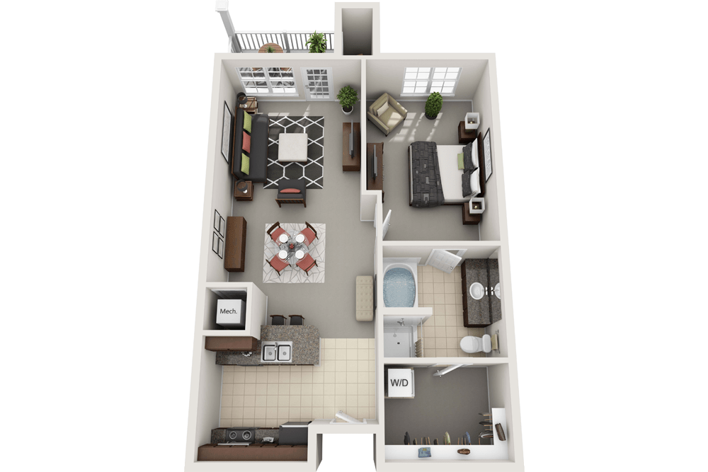 Spacious and Open 1-Bedroom Apartment in Towson