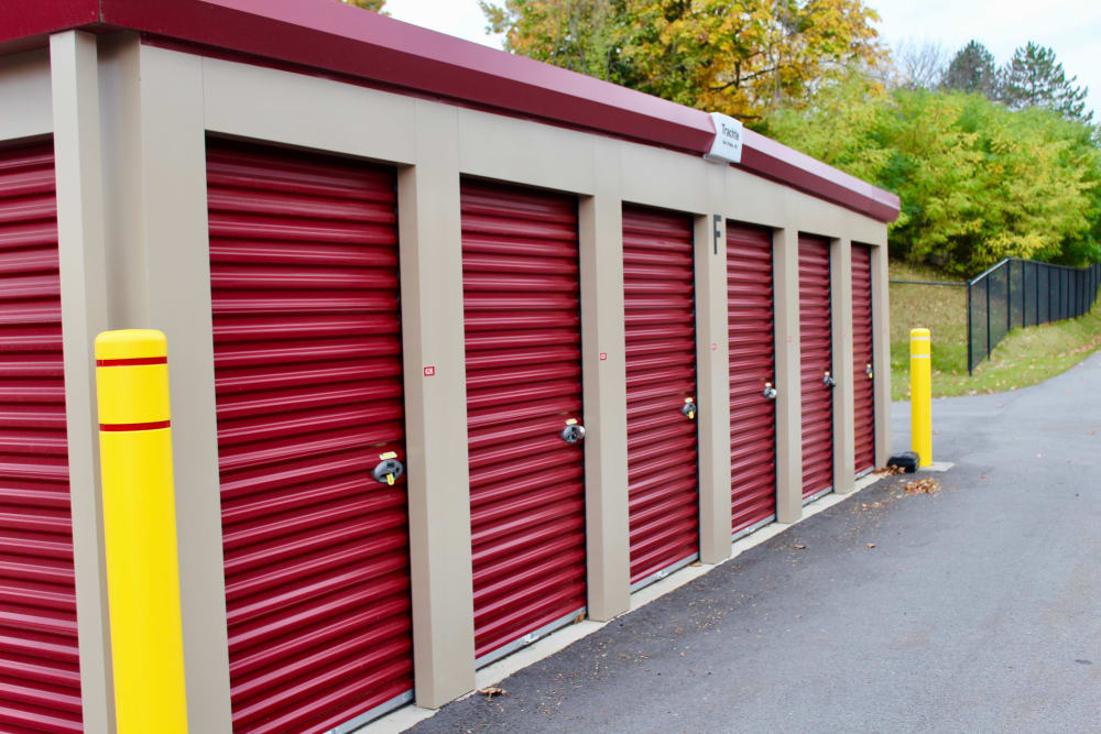Storage units at Global Self Storage in West Henrietta, New York