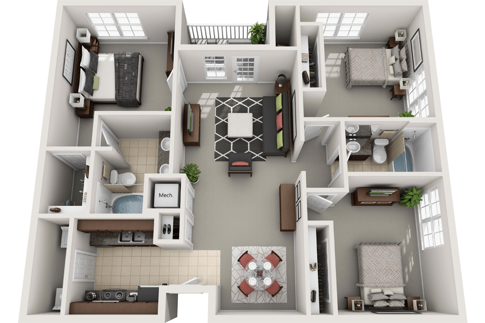 Spacious 3-Bedroom Apartment in Towson