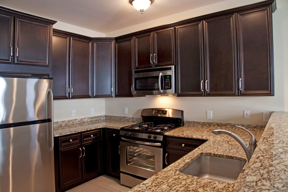 Spacious kitchen at Presidential Place Apartments in Lebanon, New Jersey