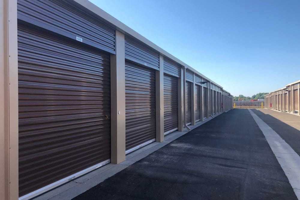 Exterior storage units at Lockaway Storage in Loveland, CO