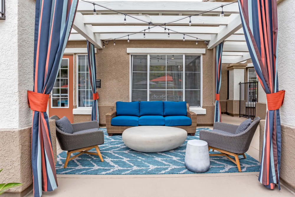 Outside lounge area at Sofi Westview in San Diego, California