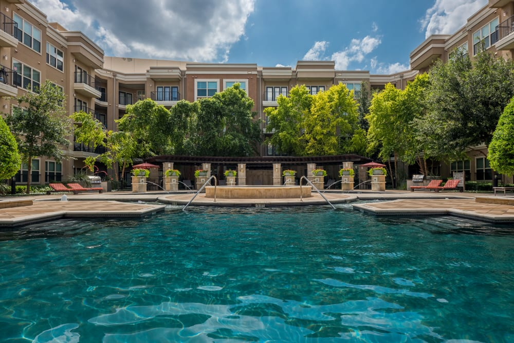 swimming pool at Addison Keller Springs in Addison, Texas