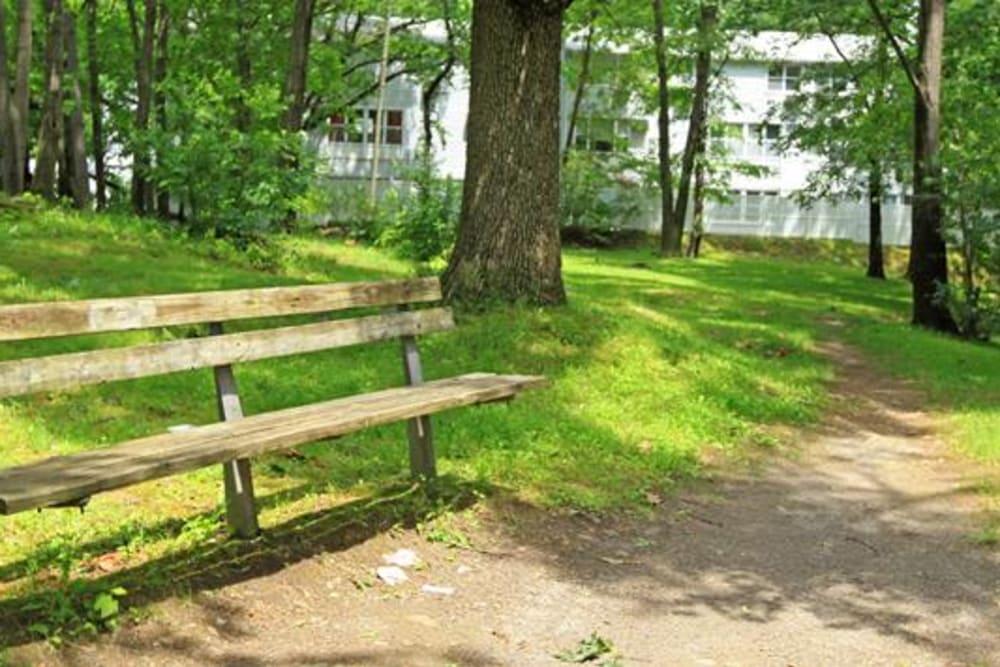 Walking path at Cortlandt Ridge in Ossining, New York