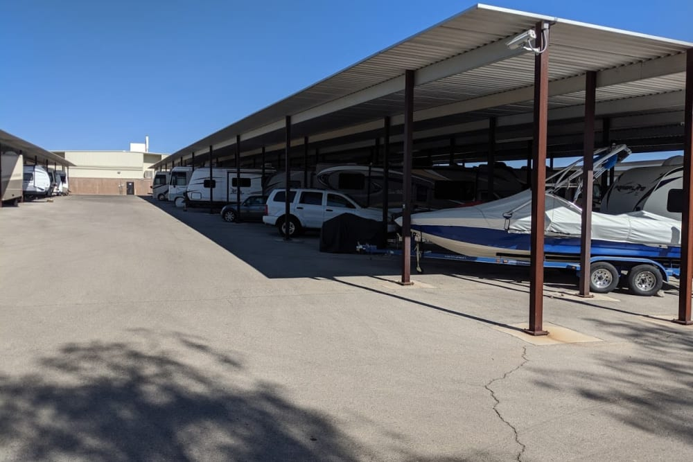 Exterior storage at Golden State Storage - Horizon Ridge in Henderson, Nevada