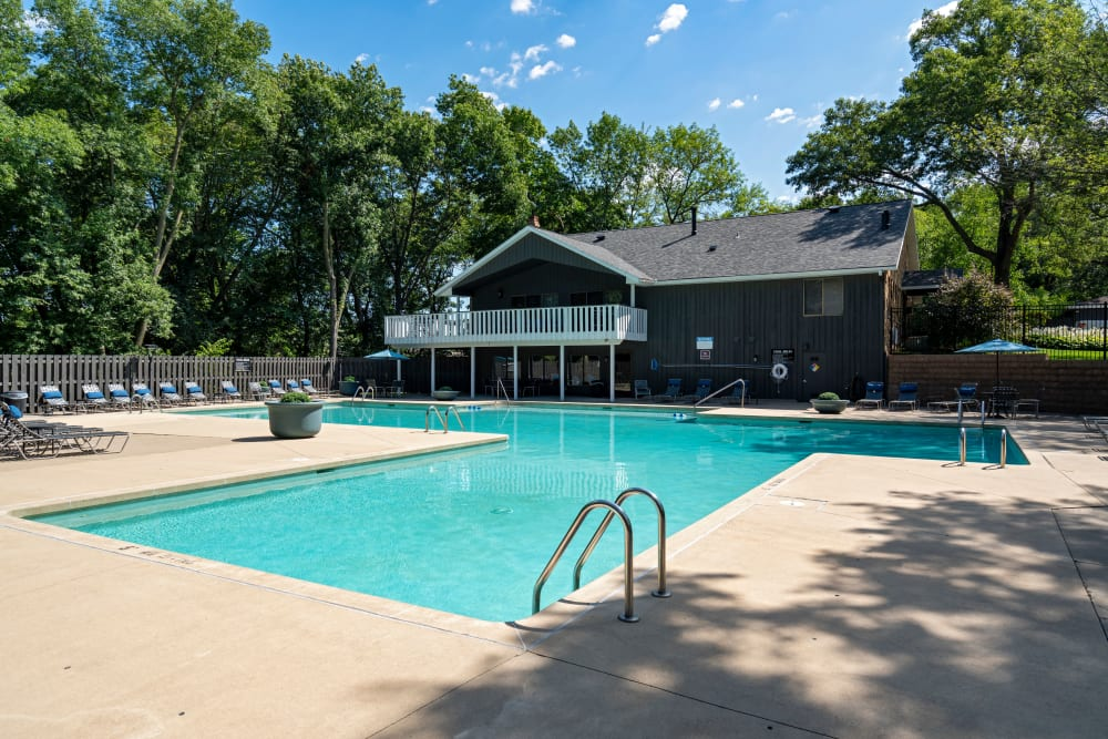 Swimming pool at Windsor on the River in Cedar Rapids, Iowa