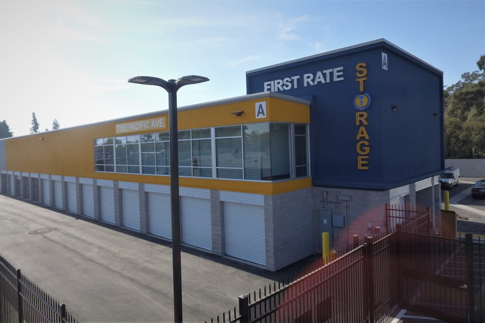 Large storage units at First Rate Storage in Stockton, California