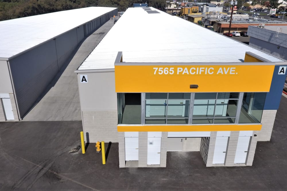 Drive-up units at First Rate Storage in Stockton, California