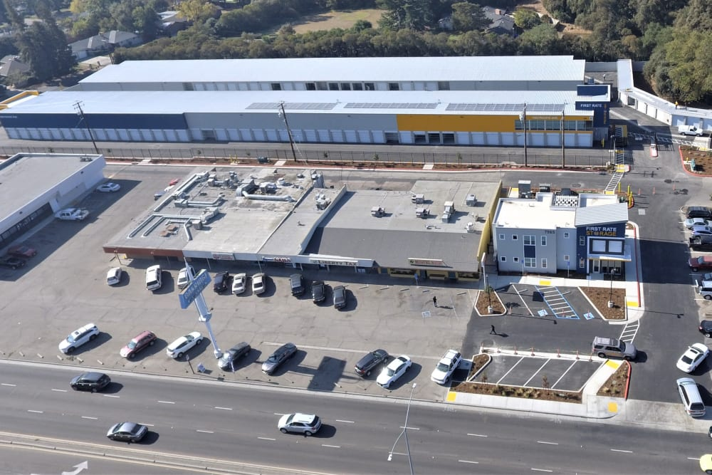 Ample parking spaces at First Rate Storage in Stockton, California