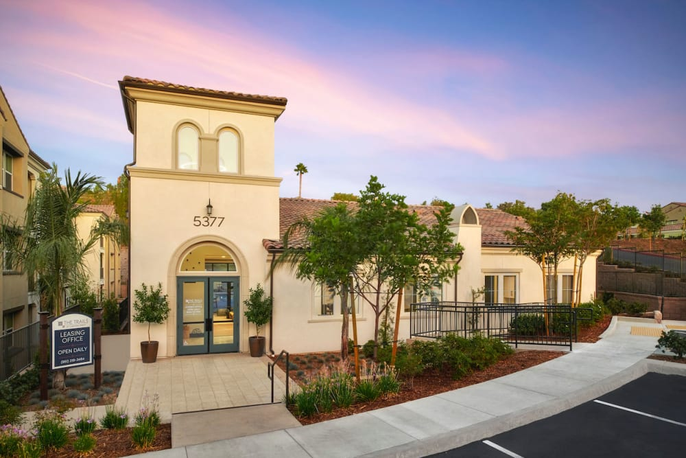 exterior of apartments at The Trails at Canyon Crest in Riverside, California