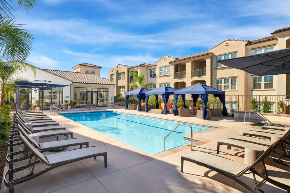 Swimming pool at The Trails at Canyon Crest in Riverside, California