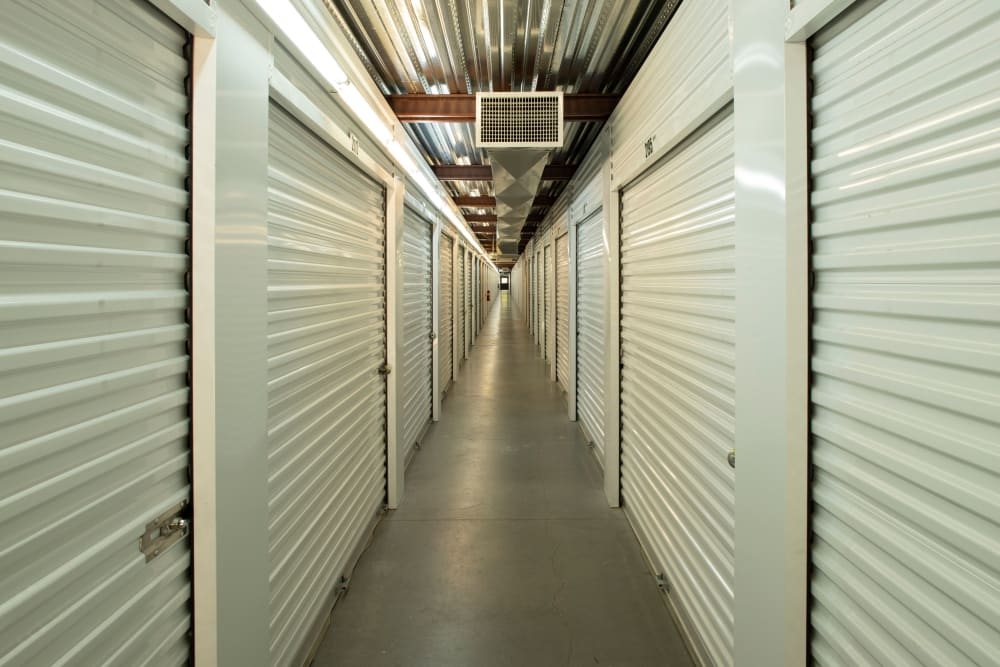 A row of storage units at Cubes Self Storage in Bountiful, Utah