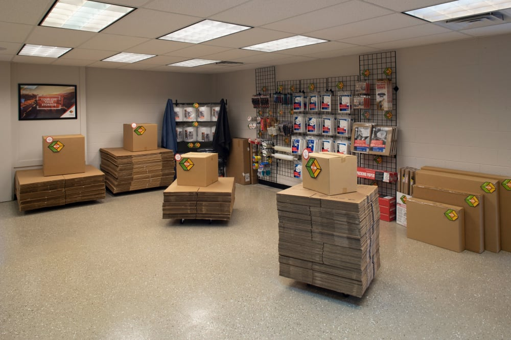 The office store at Cubes Self Storage in Bountiful, Utah