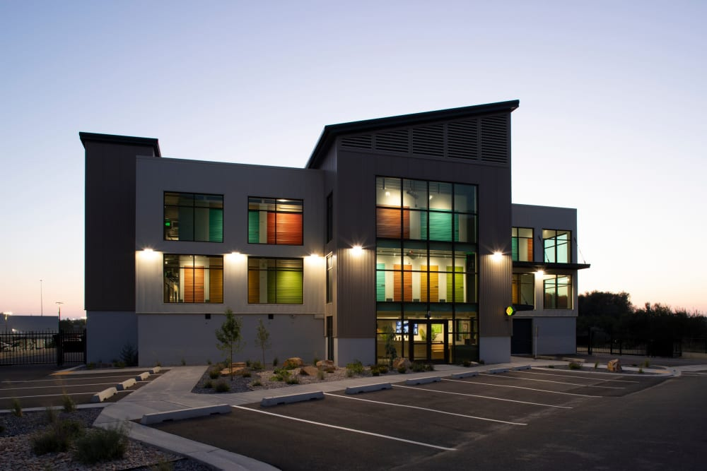 The office building at Cubes Self Storage in Farmington, Utah