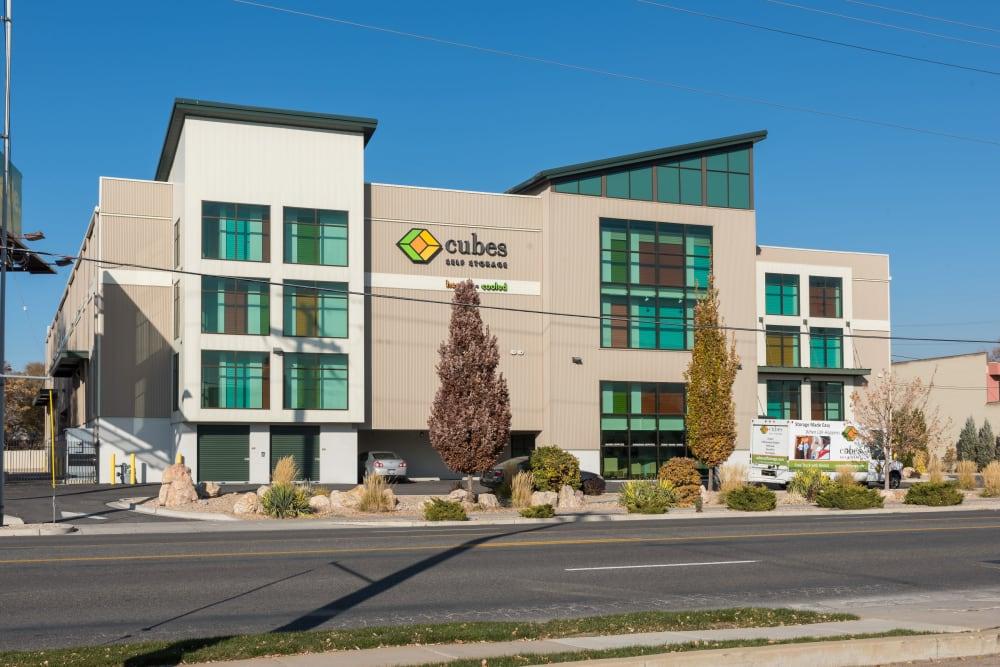The office building at Cubes Self Storage in Millcreek, Utah