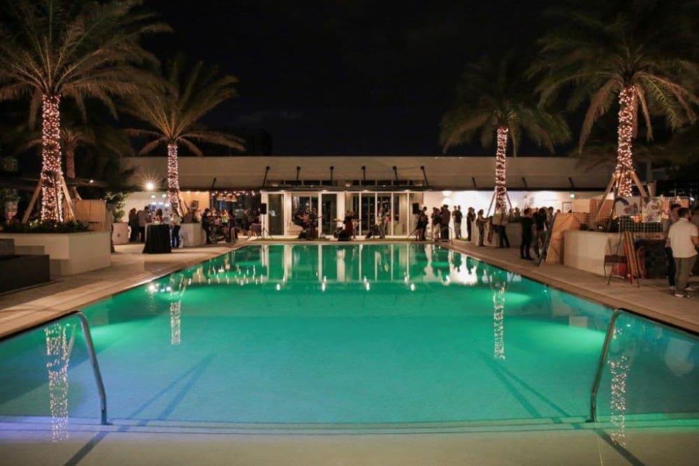 Swimming pool at Yard 8 Midtown in Miami, Florida