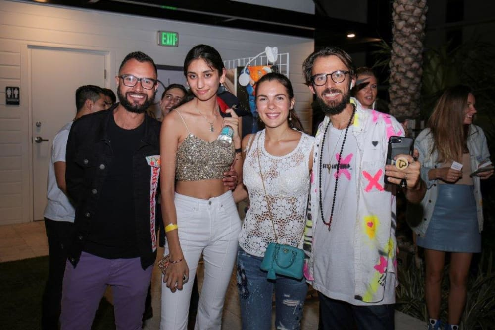 Friends at Yard 8 Midtown in Miami, Florida