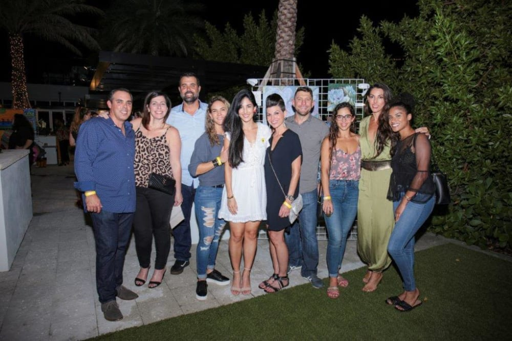 Group picture at Yard 8 Midtown in Miami, Florida