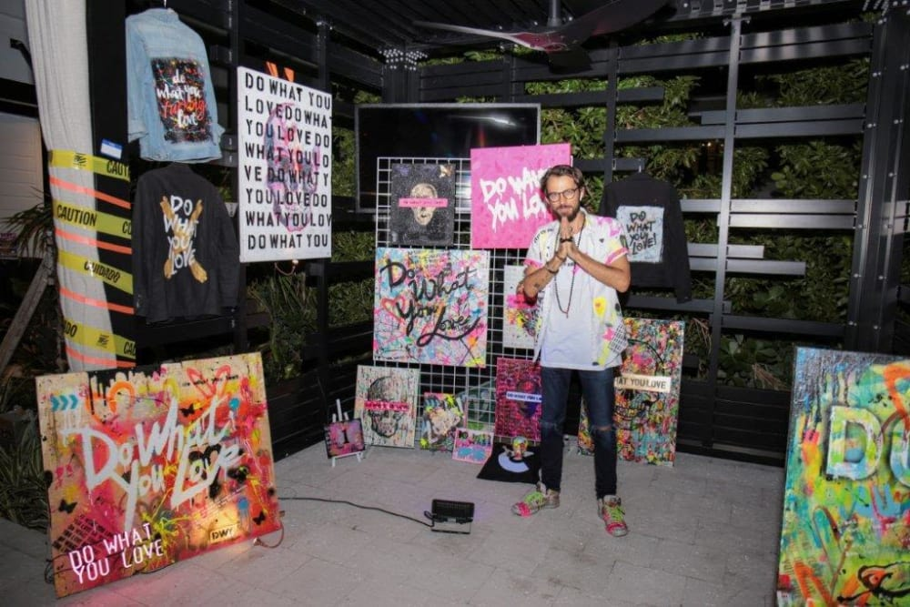 Art at event at Yard 8 Midtown in Miami, Florida